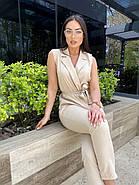 Модный костюм женский из жилета и брюк, фото 4