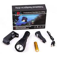 Ручний підводний ліхтар для дайвінгу та підводного полювання X-BALOG Алюміній Чорний (BL-Y2-Q3-T6)