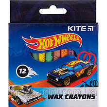 Мелки восковые Kite Hot Wheels HW21-070, 12 цветов