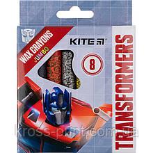 Мелки восковые Kite Jumbo Transformers TF21-076, 8 цветов