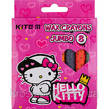 Мелки восковые Kite Jumbo Hello Kitty HK21-076, 8 цветов