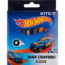 Мелки восковые Kite Jumbo Hot Wheels HW21-076, 8 цветов