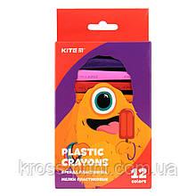 Мелки пластиковые Kite Jolliers K19-072-12, 12 цветов