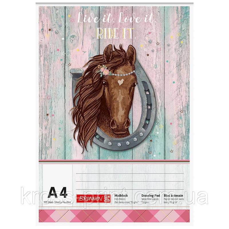 Альбом для малювання BRUNNEN Ponylove, А4, 100 аркушів