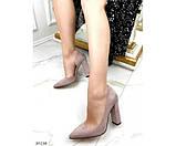 Туфли на устойчивом широком каблуке, фото 4