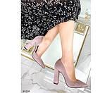 Туфли на устойчивом широком каблуке, фото 6