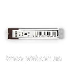 Стержни д/карандашей., 0.5 мм., B (п-г 5 шт.)