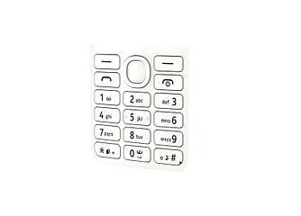 Клавіатура Nokia 206 White (Original)