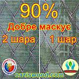 Сітка 1.5х100м 90% маскувальна, фасадна, від взлядов на паркан Чехія, фото 3