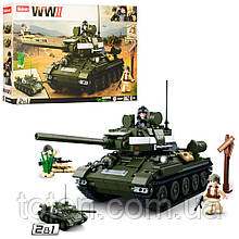 Конструктор  Военный танк, фигурки, 686 деталей SLUBAN M38-B0689