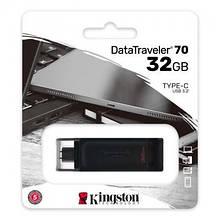 USB 3.2 Type-C флеш накопичувач 32GB Kingston DataTraveler 70 (DT70/32GB) новий