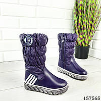 Зимние детские сапоги для девочки до колена на молнии