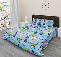 Полуторный комплект детского постельного белья Майнкрафт