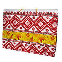 Пакет подарочный подсолнухи , орнамент