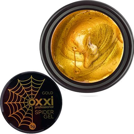 Гель-паутинка Oxxi Professional Spider Gel Gold, 5 г золото, фото 2