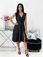 Женское платье миди, без рукавов, с разрезом, фото 2