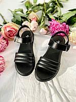 Дешевые сандалии черного цвета на лето. Женские босоножки черные кожаные недорогие. Босоножки кожаные 2021