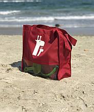 Сумка для песочницы пляжная с сетчатым дном Красная