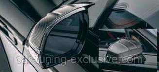 MANSORY carbon mirror cover 2 with MANSORY logo for Bentley Bentayga