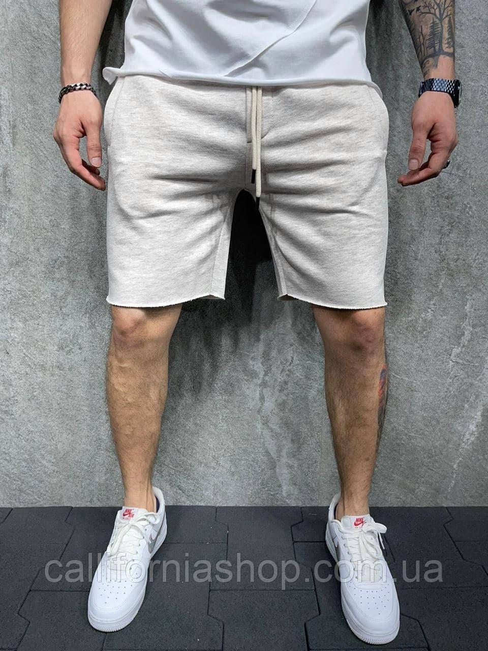 Шорти чоловічі світло-сірі тканинні легкі