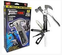 Набор Tac Tool 18in1 компактный инструмент с Чехлом, универсальный молоток, швейцарский нож, плоскогубцы