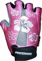 Велоперчатки для детей с лайкрой FREERIDE LISA Розовый