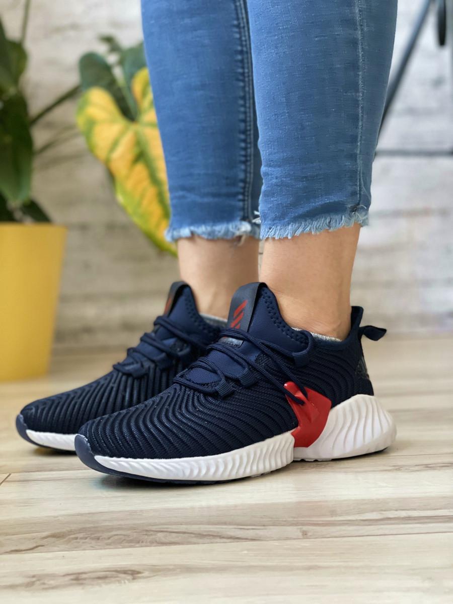 Кросівки жіночі 15654, Adidas AlphaBounce Instinct, темно-сині, [ 36 38 ] р. 36-22,5 див.