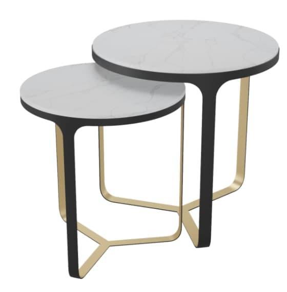 Журнальний столик Area Model A double side 400х550+400х550 Сірий