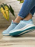 Кросівки жіночі 16504, BaaS Ploa, блакитні, [ 36 37 39 ] р. 36-23,0 див., фото 7