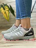 Кроссовки женские 16914, Adidas Marathon Tn, серые [ 36 38 ] р.(36-22,7см), фото 3