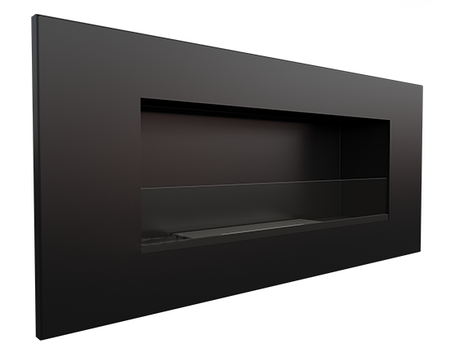 Биокамин Delta2 90х40 см, с стеклом, черный, безопасный вкладыш, фото 2