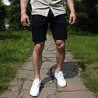 Шорти чоловічі коттоновие темно-синього кольору. Чоловічі шорти літні бавовняні колір темно-синій., фото 1