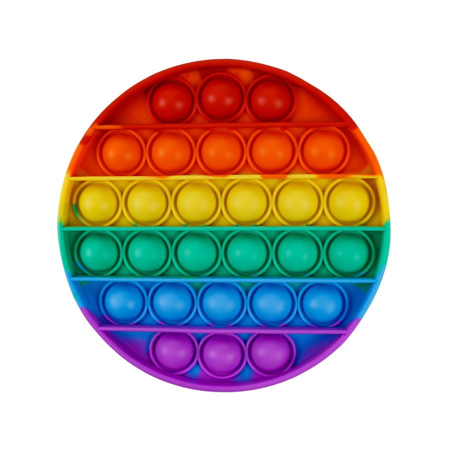 Антистресс сенсорная игрушка Pop It Бесконечная пупырка антистресс  Разноцветный круг