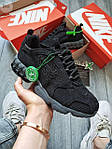Жіночі кросівки Nike Air Zoom Spiridon Caged Stussy (чорні) кроси в сіточку 671GL, фото 4