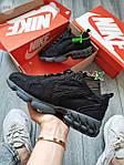 Жіночі кросівки Nike Air Zoom Spiridon Caged Stussy (чорні) кроси в сіточку 671GL, фото 6