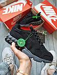 Жіночі кросівки Nike Air Zoom Spiridon Caged Stussy (чорні) кроси в сіточку 671GL, фото 7