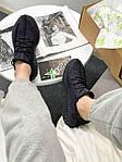 Женские кроссовки Adidas Yeezy Boost 350 Black (черные) YE012 летние повседневные кроссы, фото 3