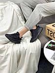 Женские кроссовки Adidas Yeezy Boost 350 Black (черные) YE012 летние повседневные кроссы, фото 10