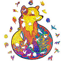 "Дизайнерские пазлы из дерева Лисица А5 ""Wooden jigsaw puzzle - Fox"", деревянные пазлы (дерев яний пазл) (NS), фото 1"