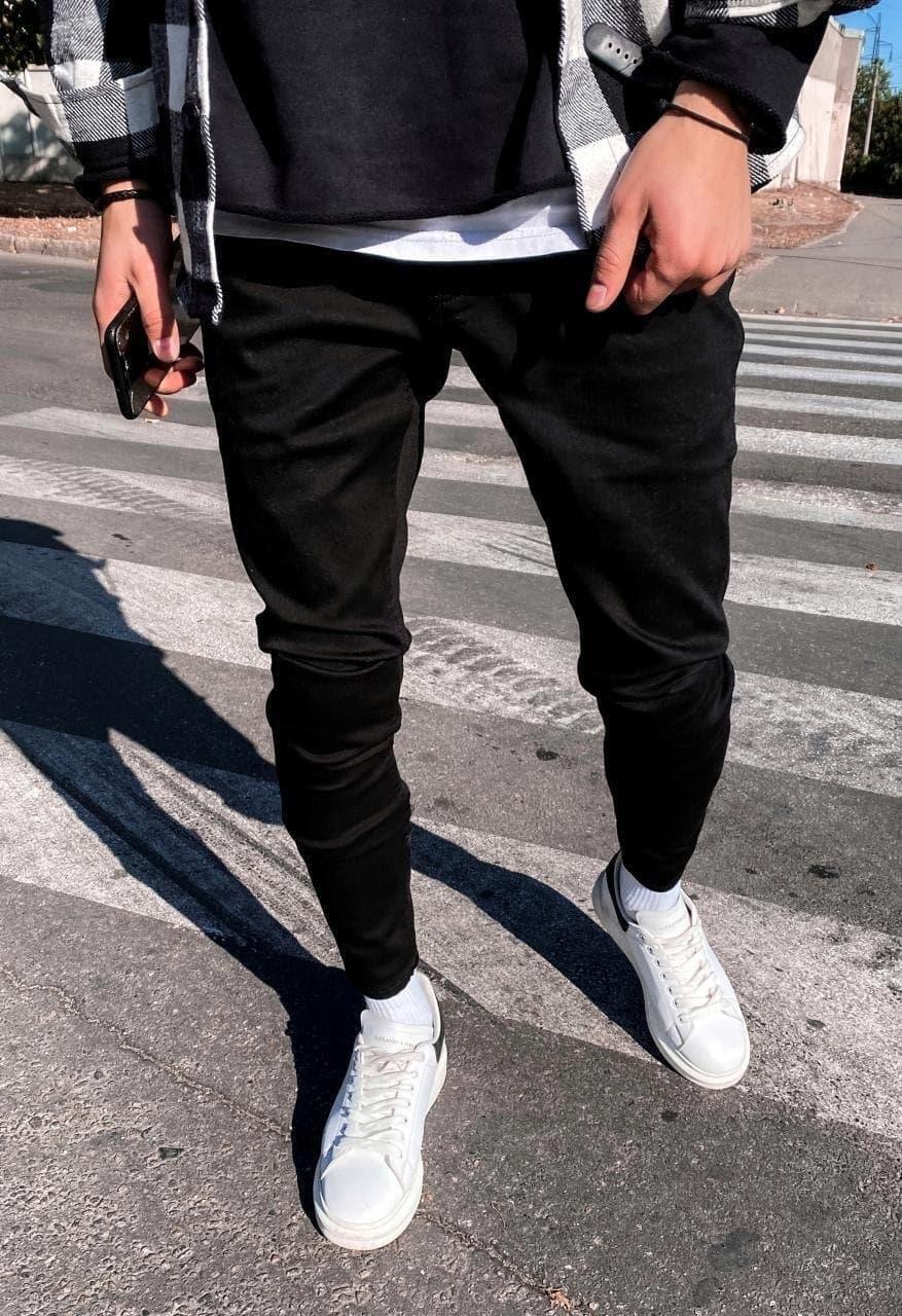 Чоловічі штани молодіжні (сині) якісні завужені донизу s192