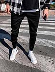 Чоловічі штани молодіжні (сині) якісні завужені донизу s192, фото 3
