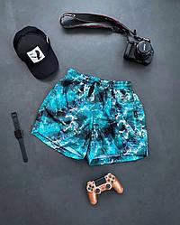 Чоловічі шорти плавальні (блакитні) трикотажні на літо sff12