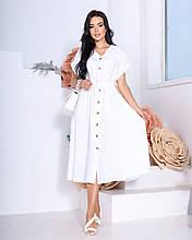 Жіноче літнє плаття Креп жатка Розмір 42 44 46 48 50 52 В наявності 3 кольори