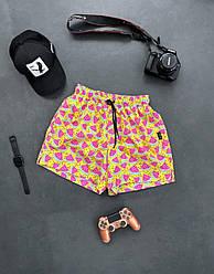 Чоловічі шорти плавальні (жовті) трикотажні з кавунами на літо sff13