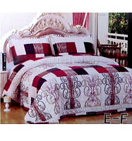 Покрывало на кровать евро-размера East Comfort на светлом абстракция