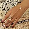 Модное украшение на руку Слейв браслет с кристаллами Золото №9
