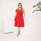 Красивое платье женское Софт Размер 48 50 52 54 56 58 60 62 В наличии 4 цвета, фото 6