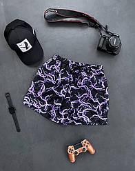 Чоловічі шорти плавальні (чорні) трикотажні з блискавкою на літо sff16