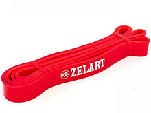 Фитнес-резинка для подтягиваний Zelart Резина Нагрузка 10 - 40 кг Красный