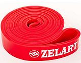 Фітнес-гумка для підтягувань Zelart Гума Навантаження 10 - 40 кг Червоний, фото 2